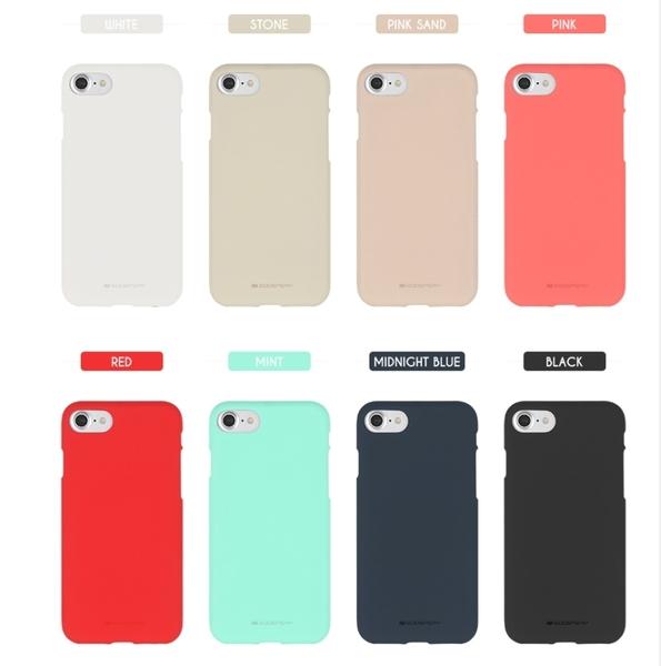 88柑仔店--韓國Goospery蘋果X 8/7手機殼iPhone7 Plus保護套磨砂硅膠液態膚感