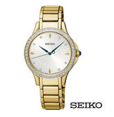 SEIKO 精工 SRZ488P1 (7N01-0HR0G) 防水 時尚 晶鑽 女錶/金/31mm