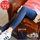 *孕婦裝*簡單時尚素面顯瘦孕婦(腰圍可調)牛仔長褲 兩色----孕味十足【COH511】