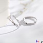貝貝居 銀戒指 戒指 一對 日式 輕奢 純銀 對戒 可調節