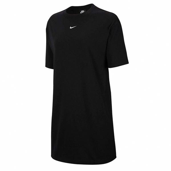 【現貨】NIKE NSW Essential Dress 女裝 短袖 長版 休閒 純棉 小LOGO 黑 【運動世界】CJ2243-010