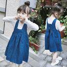 設計剪裁牛仔背心裙 吊帶裙 牛仔裙 橘魔法Baby magic 現貨 中童 女童 童裝