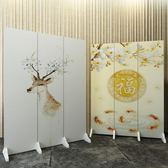 定制屏風隔斷客廳小戶型折疊裝飾中式簡約現代移動折屏辦公室玄關雙面WY