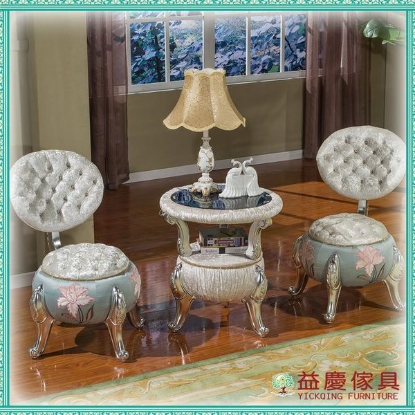 【大熊傢俱】FS2015 新古典 南瓜凳 南瓜椅 小凳子 穿鞋凳 造型椅 化妝凳 布沙發 實體展示
