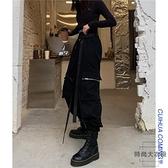 韓版寬鬆bf褲子工裝褲女顯瘦高腰帥氣束腳褲潮【時尚大衣櫥】