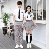 韓國校服學生JK制服夏季韓版學院風水手服女高中襯衫短裙班服套裝