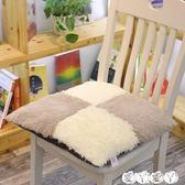 坐墊 秋冬季加厚長毛絨坐墊防滑辦公室學生椅子墊餐桌椅墊子墊拆洗座墊 【全館9折】