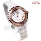 RELAX TIME 奢華軌道鑲石經典陶瓷系列 玫瑰金 珍珠螺貝面盤 陶瓷腕錶 防水手錶 RT-93-1