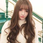 韓國假髮女生空氣劉海長卷髮蓬松梨花大波浪自然逼真透氣時尚頭套聖誕交換禮物