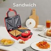 110V多功能定時三明治早餐機 三合一家用華夫機 帕尼尼機烤肉機 超商