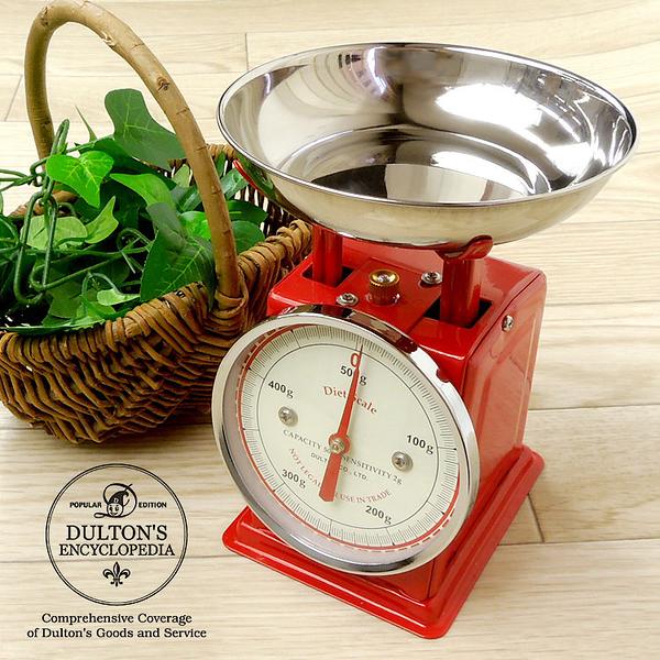 復古磅秤 500g Dulton Diet Scale 紅色 日本帶回