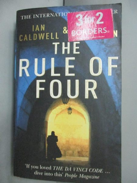 【書寶二手書T1/原文小說_IIP】The Rule of Four_Ian Caldwell