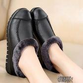 媽媽棉鞋冬保暖加絨4243大碼軟底中老年女棉鞋短棉靴防滑老年人鞋 街頭布衣