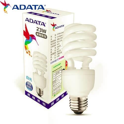 ADATA威剛23W節能螺旋球燈泡-白光