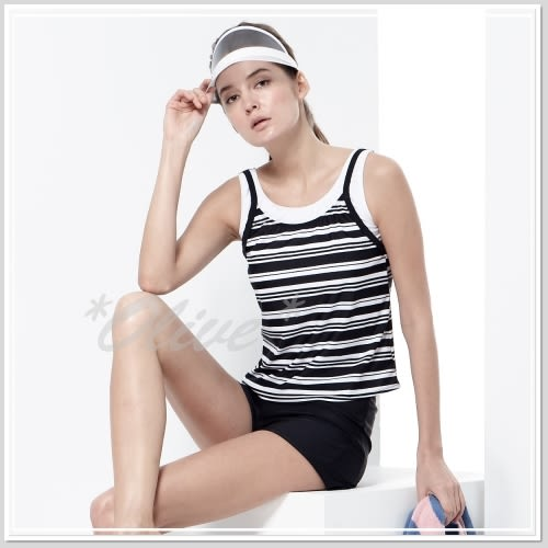 ☆小薇的店☆MIT沙兒斯品牌【經典黑白條紋】時尚二件式泳裝特價1380元 NO.B92642(S-2L)