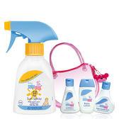 施巴【嬰兒防曬保濕乳SPF50+小熊旅行組】贈和風健康紗布童巾