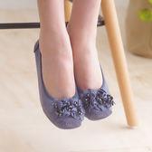 娃娃鞋 懶人鞋 休閒鞋 藍 女鞋 真皮平底鞋《SV8552》快樂生活網