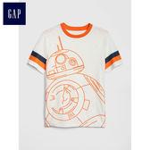 Gap男童 星球大戰系列短袖圓領T恤 465629-光感亮白