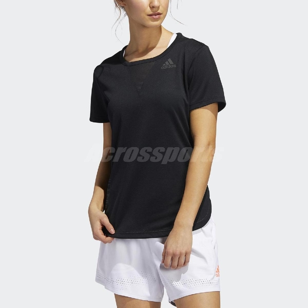 adidas 短袖T恤 Training 3-Stripes Tee 黑 白 女款 短T 運動 健身房 【ACS】 FK9615