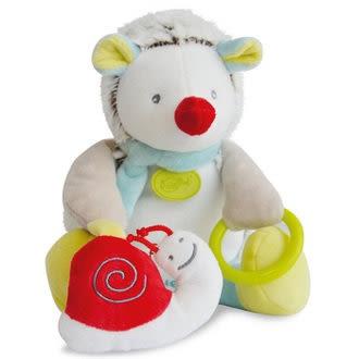 Doudou 白綠紅刺蝟玩具布偶 (20cm)
