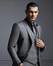 男士正韓窄版6cm英倫復古羊毛領帶灰色 ...