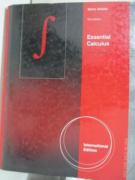 【書寶二手書T3/大學商學_DX6】Essential Calculus, International Metric Edition2/e_James Stewart