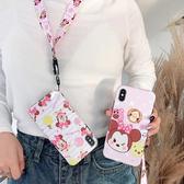 【SZ24 】卡通米妮+掛繩軟殼iphone xs max 手機殼xr 防摔手機殼iphone 8 plus 手機殼i6s plus 手機殼