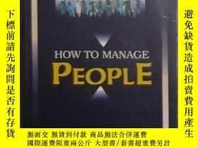 二手書博民逛書店英文原版罕見How to Manage People by E.