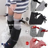 童襪 女孩蝴蝶結緞帶高筒襪 四色 寶貝童衣