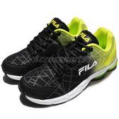 FILA 慢跑鞋 J908R 黑 黃 白底 運動鞋 透氣舒適 基本款 男鞋【PUMP306】 1J908R466