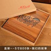 木質盒裝影集過塑相冊本5寸插頁式家庭相冊大容量裝1000張 亞斯藍