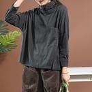 全網熱銷商店 秋季高領衛衣 女士上衣打底衫 大尺碼民族風長袖 套頭衫
