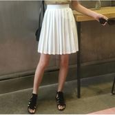 新款高腰短款百褶包臀半身裙YY1078『黑色妹妹』