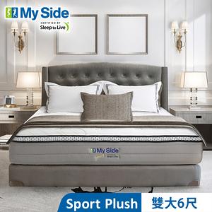 美國 My Side Sport Plush 獨立筒 彈簧床-雙大6尺送羽絲絨被+緹花對枕