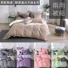 加大雙人床包兩用被套四件組 【 玩色主義 】 膠原蛋白 300織天絲™萊賽爾 台灣製 OLIVIA