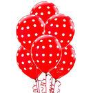 12吋點點乳膠氣球6入-蘋果紅