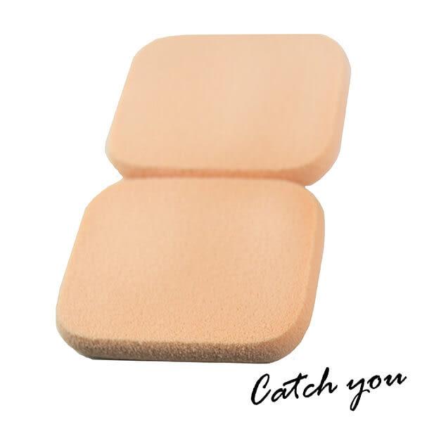 【CatchYou凱趣妮】高密度柔軟大長形粉撲(水粉/乾溼兩用)2入 粉撲 化妝 上妝 彩妝