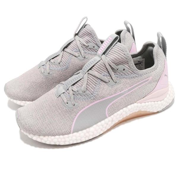 Puma 慢跑鞋 Hybrid Runner Wns 灰 紫 粉紫 女鞋 編織鞋面 避震顆粒 運動鞋【ACS】 19111204
