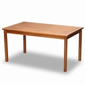 BROTHER 兄弟牌印尼柚木古典六人長方桌 (90cm*150cm)