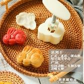 中秋月餅模具立體螃蟹招財貓兔子傳統如意蓮花廣式冰皮月餅模家用 果果輕時尚