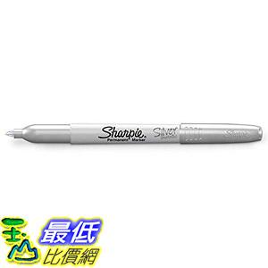 [8美國直購] 標記筆 Sharpie Metallic Permanent Markers, Fine Point, Silver, 12 Count