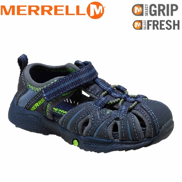 【MERRELL 美國 HYDRO KIDS兒童休閒鞋 深藍/綠】ML53375/越野鞋/休閒鞋/登山鞋/運動鞋/健行