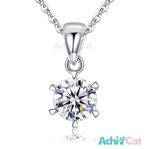 925純銀項鍊 AchiCat  璀璨永恆 鋯石