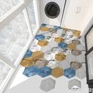 衛生間防水地貼地板貼紙瓷磚牆貼自黏廚房地面防滑裝飾六角地貼 NMS怦然新品