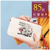手機袋-迪士尼90週年限定米奇插畫手機袋/收納包-共8色-A09090175-天藍小舖