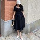 方領洋裝 泡泡袖 中大尺碼XL-5XL氣質顯瘦一字領連身裙4F087.623 胖胖唯依