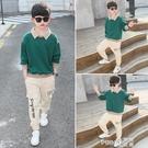 男童秋裝套裝2020新款帥氣潮10韓版12中大童男孩童裝15歲兒童加絨  (pink Q 時尚女裝)