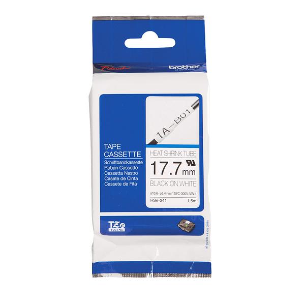 【高士資訊】BROTHER 17.7mm HSe-241 熱縮套管標籤 白底黑字 原廠 標籤帶 HS241