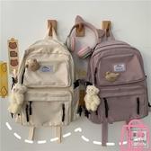 後背包工裝學生街拍書包女原宿旅行背包健身包【匯美優品】