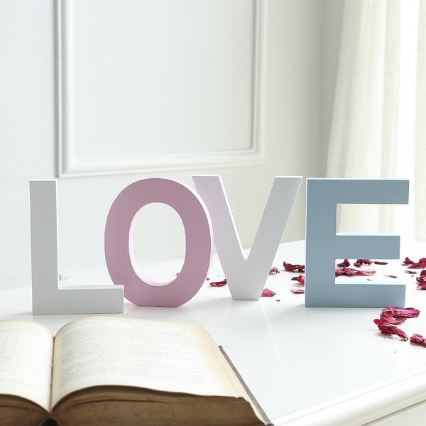diy木質英文字母家居創意擺件婚慶裝飾擺設壁飾拍攝道具大號白色─預購CH1992